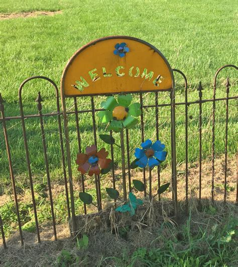 Decorative Garden Yard by Welcome Trellis With Flowers Decorative Yard Decor Garden