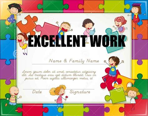 certificates of completion for kids certificate of completion for kids template update234