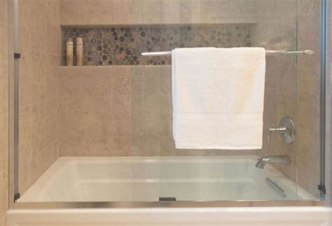 Tiling A Bathtub Alcove by Guest Bath The Kohler Archer Tub Shower Is Designed To