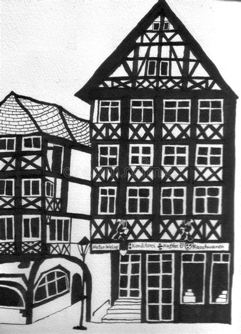 The oreo cake is orgasmic! German Half Timbered Houses With A Coffee House Stock Photo - Illustration of figure, structure ...