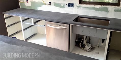 how to make a cement sink kitchen diy concrete countertops installation