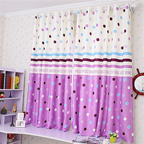 custom purple polka dot curtains with blackout feature