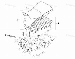 Arctic Cat Atv 2003 Oem Parts Diagram For Seat Assembly