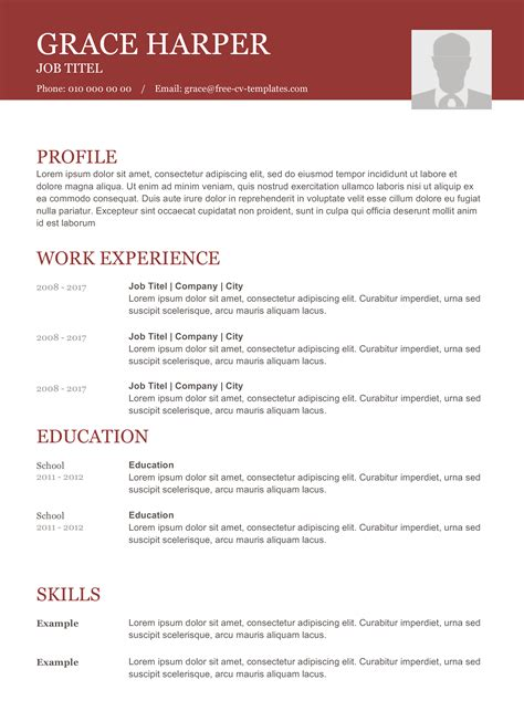 Basic Resume Exles For by 11760 Modern Resume Design Creative Bartender Resume