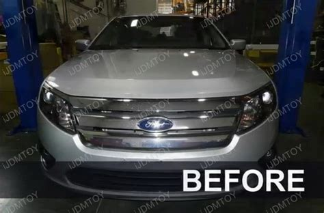 ford fusion aftermarket projector led daytime headlights