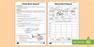 Vehicle Block Diagram Worksheet    Worksheet