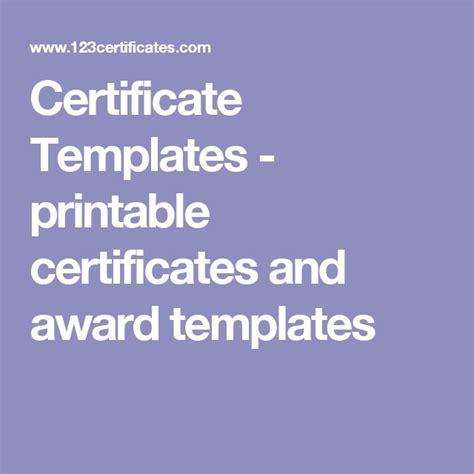 unique  certificate templates ideas  pinterest