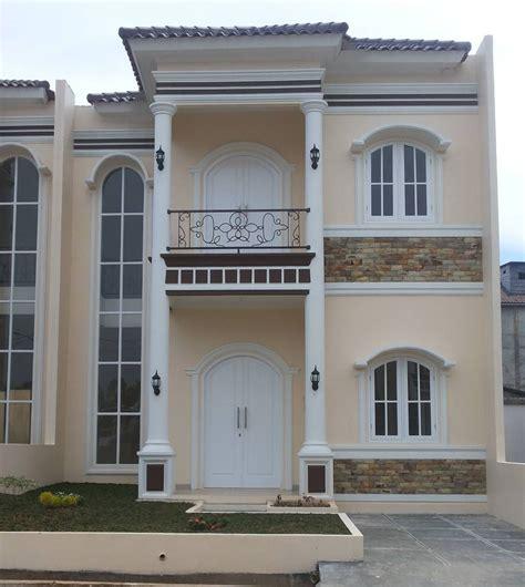 model tiang teras bulat depan rumah minimalis  model