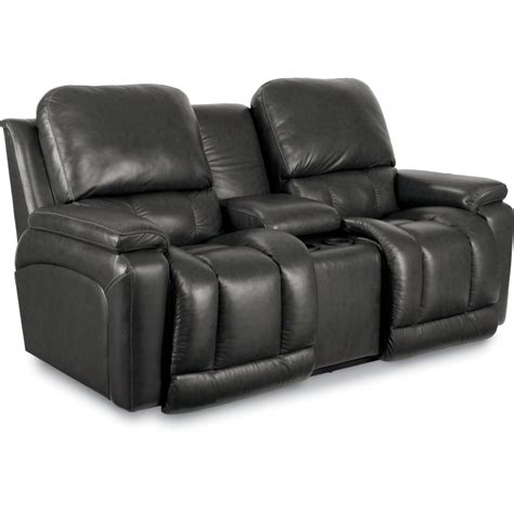 loveseat recliner with console greyson la z time 174 reclining loveseat w console