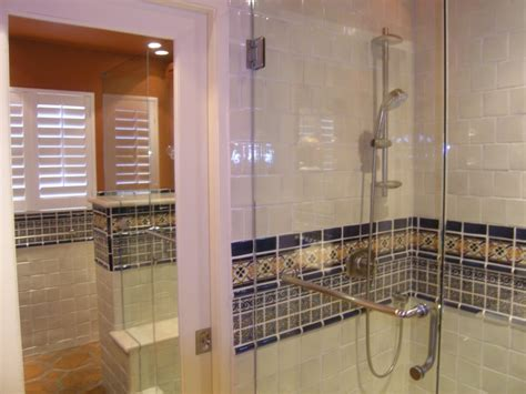 mexican tile bathroom ideas mexican tile liner in a bathroom shower area mexican home decor gallery mission accesories