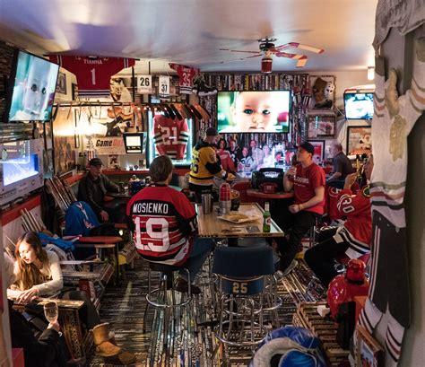blackhawks fans astonishing fan cave  canada