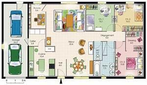 plan maison familiale 3 chambres plans maisons With plan maison plain pied 3 chambres gratuit
