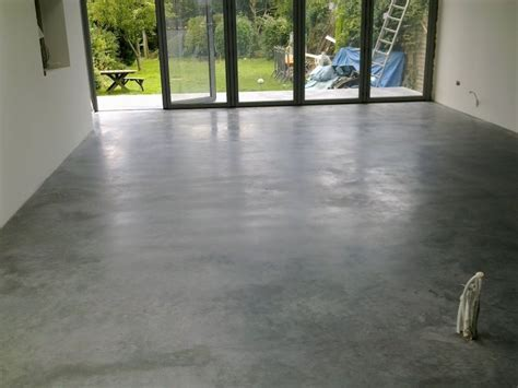 Natural Power Float Concrete Floors, House, Oxted