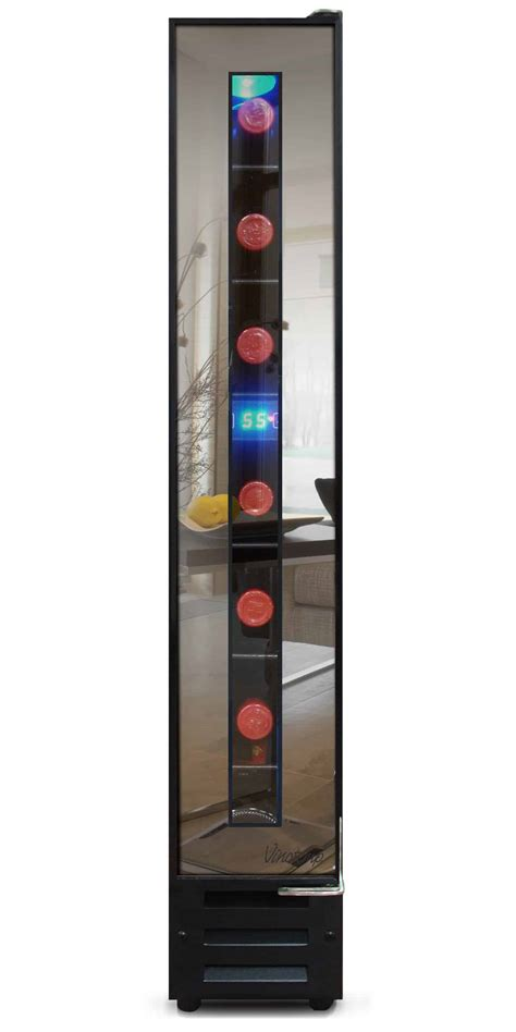 narrow wine cooler  vinotemp saves space   cool