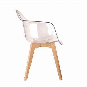 Fauteuil Chaise Scandinave : lot de 2 chaises design scandinaves pas cher pieds bois transparent ~ Melissatoandfro.com Idées de Décoration
