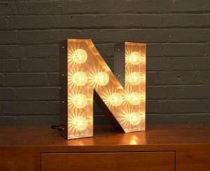 light up marquee bulb letters n by goodwin goodwin With marquee letter n