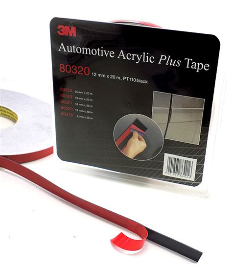 acrylic  tape pt black double sided mm  mt