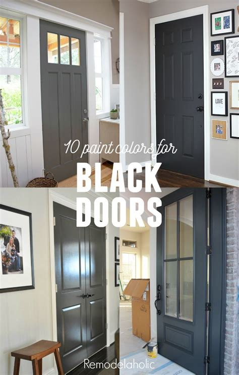 painting your interior doors black gives your home a whole