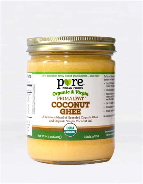 coconut smoke point organic primalfat virgin coconut oil grass fed ghee
