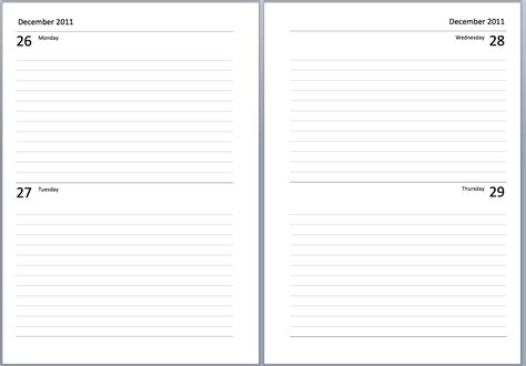 Philofaxy Free A  Diary Sets To Download And Print