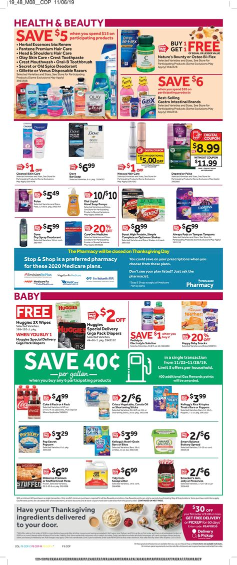 Last year, stores closed at 5 p.m. Stop and Shop - Thanksgiving Ad 2019 Current weekly ad 11/22 - 11/28/2019 16 - frequent-ads.com
