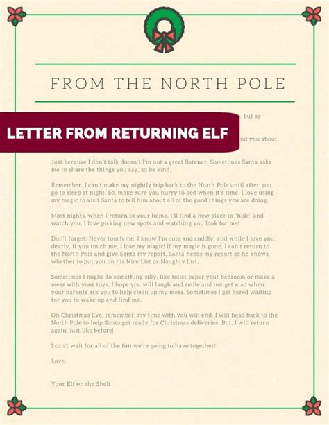 letter from elf on the shelf on a shelf letter from santa letter of recommendation 22851 | 5 five awesome downloadable elf on the shelf letters ideas and elf on a shelf letter from santa elf on a shelf letter from santa