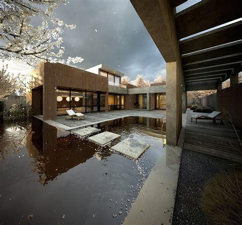 japanese inspired homes japanese garden pool with cherry blossom tree petals interior design ideas