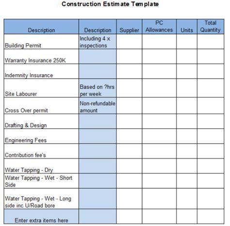 Best Bid Site The Top 6 Free Construction Estimate Templates