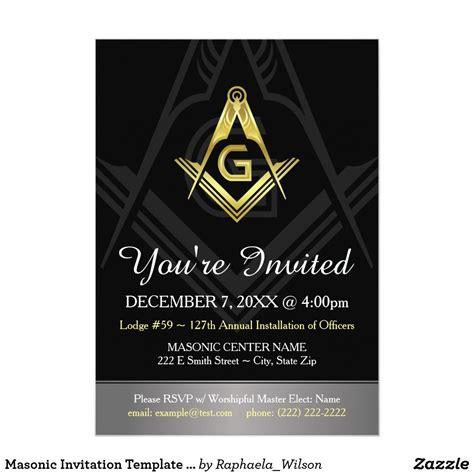 Masonic Invitation Template Black Gold & Silver