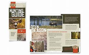 Hunting Guide Tri Fold Brochure Template Design