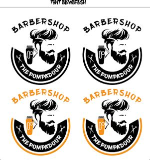 contoh logo barbershop cdr  guru corel