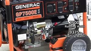 Generac 5943 Gp7500e 7500 Watt Generator