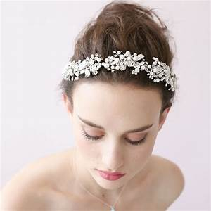 European And American Simple Handmade Wedding Dress White