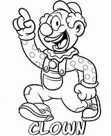 Coloring Clown Pages Professions Printable Sheets Topcoloringpages Funny Cartoon sketch template