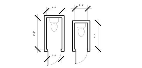 Standard Height Of Water Closet by Toilet Room Dimensions Minimum 2 6 Quot By 5 Quot House
