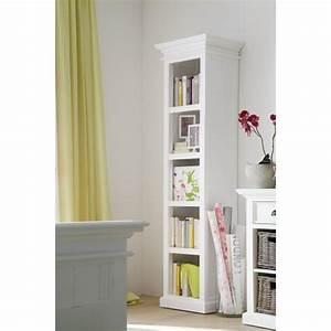 Bibliothèque Ikea Blanche : biblioth que troite acajou blanc 5 tag res ~ Preciouscoupons.com Idées de Décoration