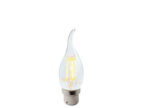 bent tip chandelier led candle bulb dimmable b22d bc