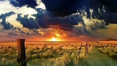Desktop Backgrounds Sunset Wallpapers Western Dark Field