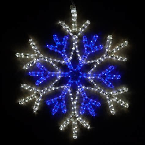 snowflakes stars  led blue  cool white snowflake