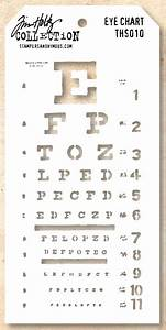 Stamper 39 S Anonymous Tim Holtz Layering Stencil Eye Chart