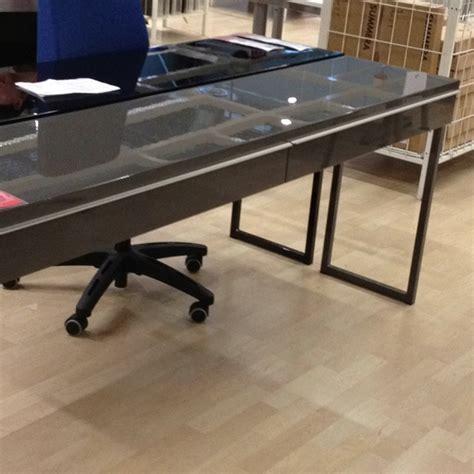Besta Burs Desk Hack by Besta Burs Gloss Gray Desk 269 Ikea Ideas