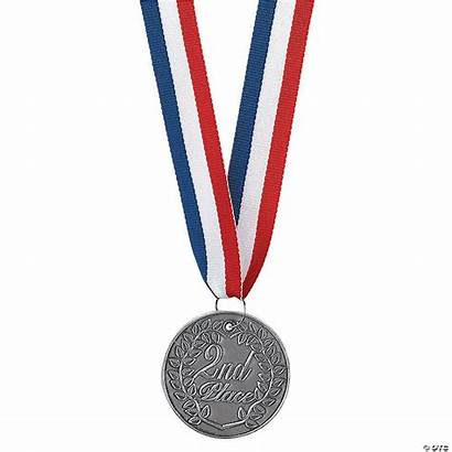 2nd Place Silver Medallion Personalized Recognition Medals