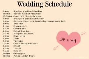 wedding ceremony program template word wedding day timeline template cyberuse