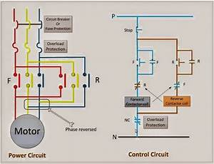 Power  U0026 Control Circuit For Forward And Reverse Motor Info