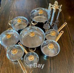 piece set command performance gold   ply cuisine cookware set utensils