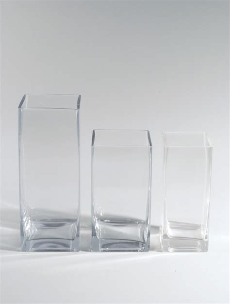 Square Vases by Square Glass Vases West Coast Event Productions Inc