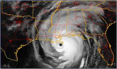 Katrina 2005 August Clouds Landfall Imagery Goes