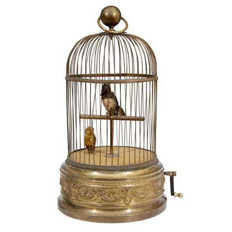 antique parrot cage antique 19th century french gilt bronze musical birdcage at 1stdibs