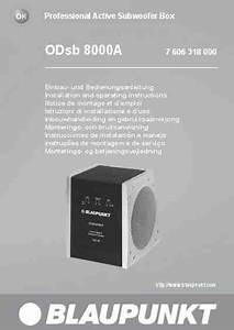 Blaupunkt Odsb 8000 A Speaker Download Manual For Free Now