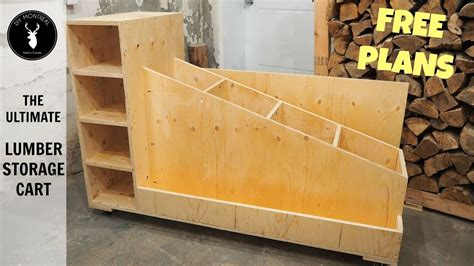 ultimate lumber storage cart  plans youtube